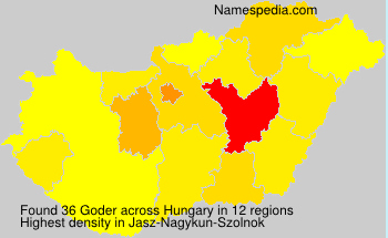 Surname Goder in Hungary