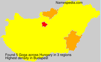 Surname Goga in Hungary