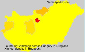 Familiennamen Goldmann - Hungary