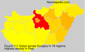 Surname Golya in Hungary