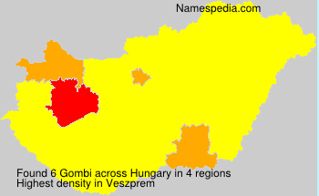 Surname Gombi in Hungary