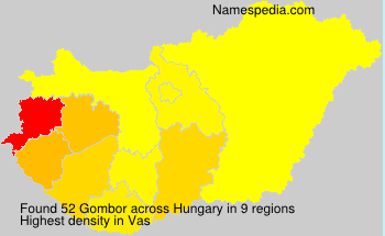 Familiennamen Gombor - Hungary