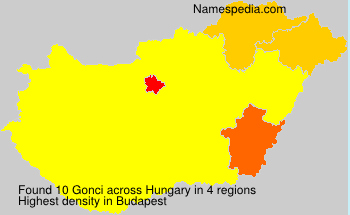 Surname Gonci in Hungary
