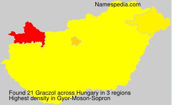 Surname Graczol in Hungary