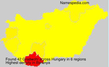 Familiennamen Gradwohl - Hungary