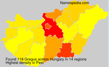 Familiennamen Gregus - Hungary
