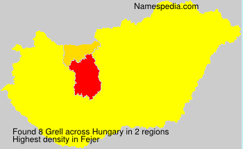 Surname Grell in Hungary