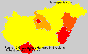 Surname Groza in Hungary