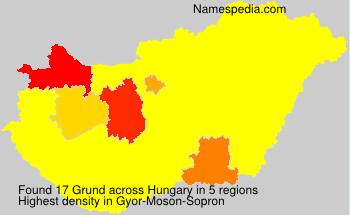 Surname Grund in Hungary