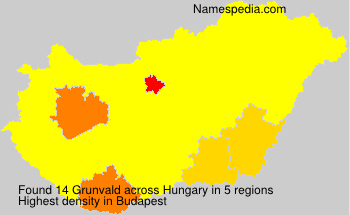 Surname Grunvald in Hungary