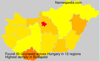 Surname Grunwald in Hungary