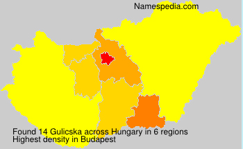 Surname Gulicska in Hungary