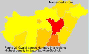 Surname Gyalai in Hungary