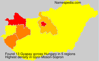 Surname Gyapay in Hungary