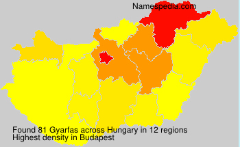 Surname Gyarfas in Hungary