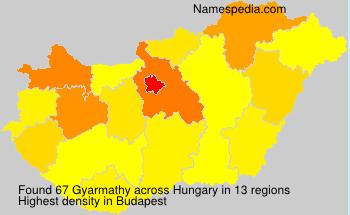 Surname Gyarmathy in Hungary