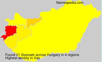Surname Gyecsek in Hungary