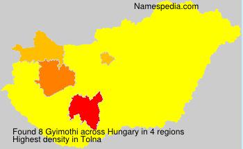 Surname Gyimothi in Hungary