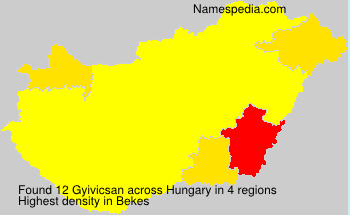 Surname Gyivicsan in Hungary