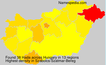 Surname Hada in Hungary
