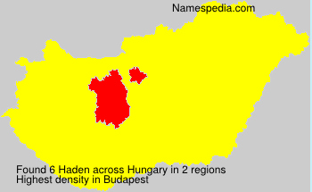Surname Haden in Hungary