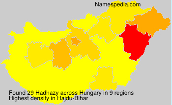 Surname Hadhazy in Hungary