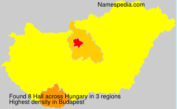 Surname Hall in Hungary