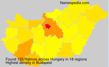 Surname Halmos in Hungary