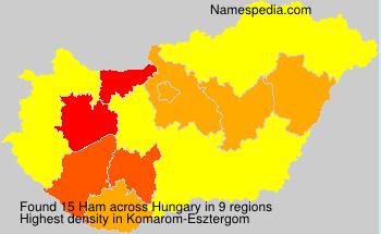 Familiennamen Ham - Hungary