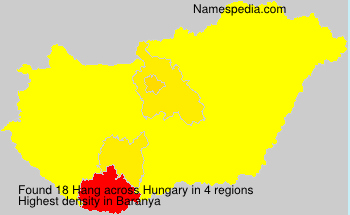 Surname Hang in Hungary