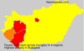 Surname Hanisch in Hungary