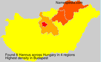 Surname Hannus in Hungary