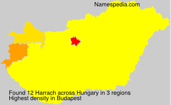 Familiennamen Harrach - Hungary