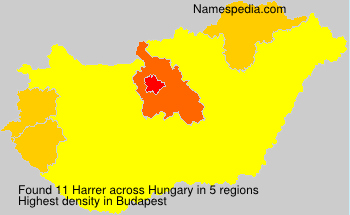 Surname Harrer in Hungary