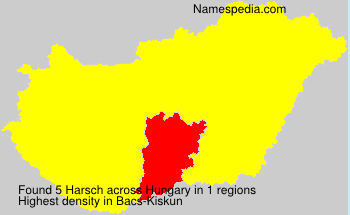 Surname Harsch in Hungary
