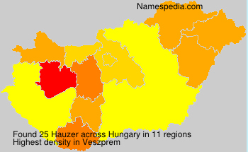 Surname Hauzer in Hungary