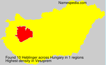 Familiennamen Heblinger - Hungary