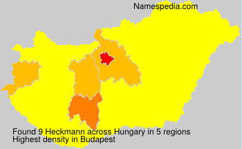 Familiennamen Heckmann - Hungary
