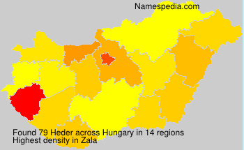 Surname Heder in Hungary