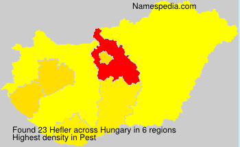Surname Hefler in Hungary