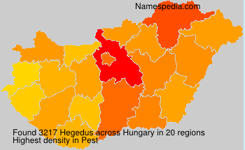 Surname Hegedus in Hungary
