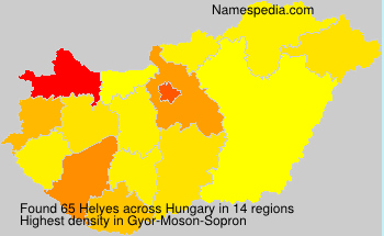Surname Helyes in Hungary