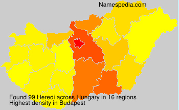 Surname Heredi in Hungary