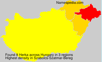Surname Herka in Hungary