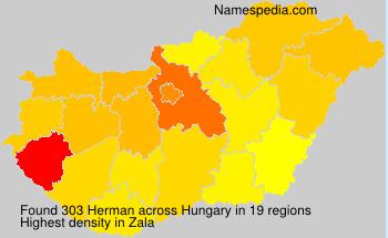 Surname Herman in Hungary