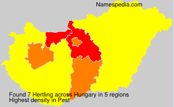 Surname Hertling in Hungary