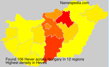Surname Hever in Hungary