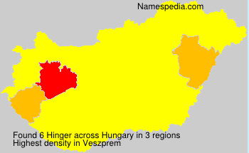 Surname Hinger in Hungary