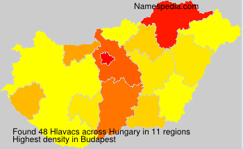 Surname Hlavacs in Hungary