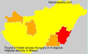 Surname Hobel in Hungary